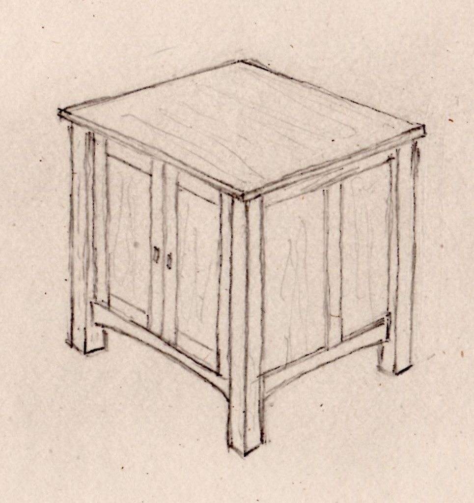 end table drawing