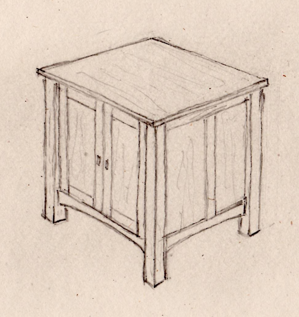 Delicieux End Table Drawing ...